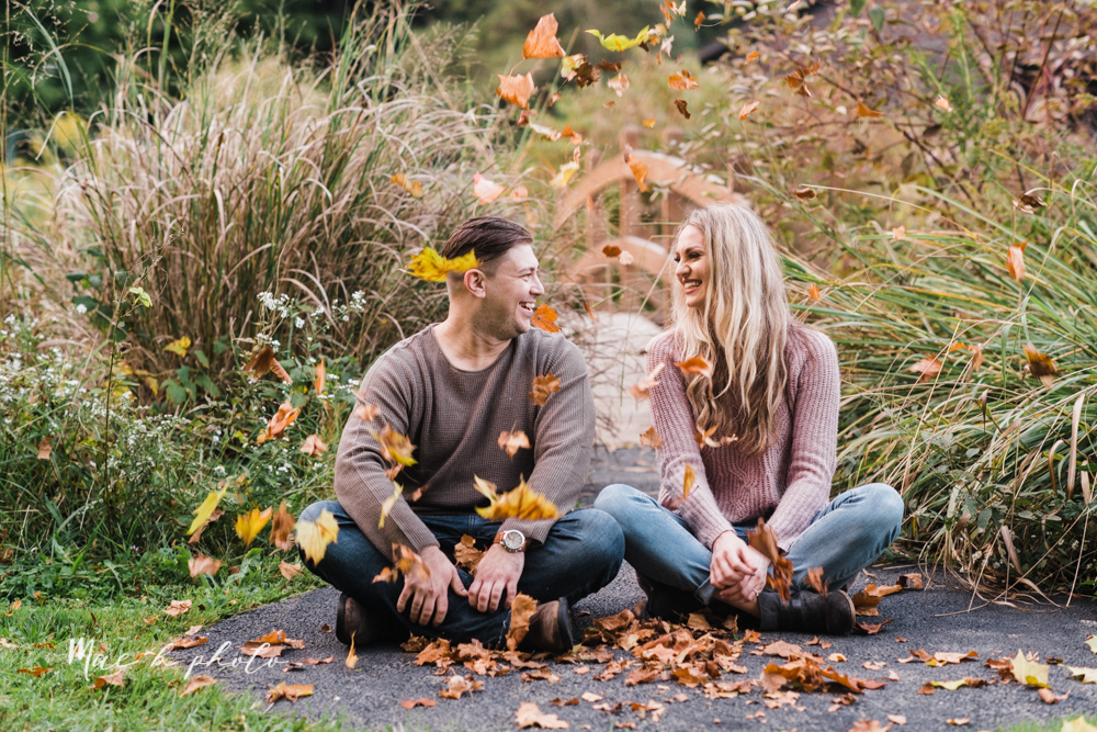 courtney and andy's vintage fall engagement session in mill creek park at pioneer pavilion and lake glacier in youngstown ohio photographed by youngstown wedding photographer mae b photo-55.jpg