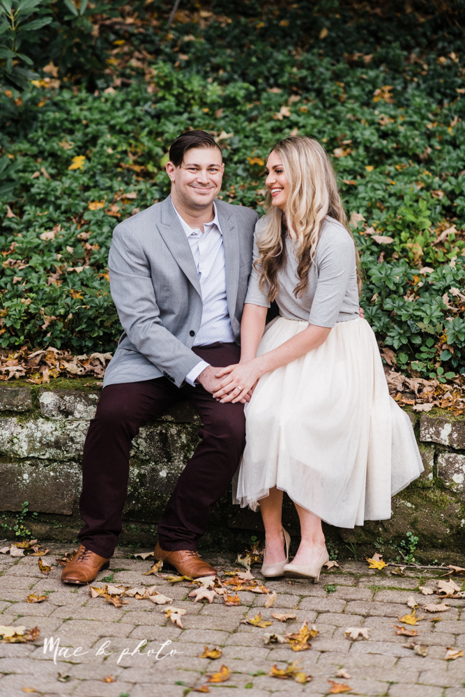 courtney and andy's vintage fall engagement session in mill creek park at pioneer pavilion and lake glacier in youngstown ohio photographed by youngstown wedding photographer mae b photo-12.jpg
