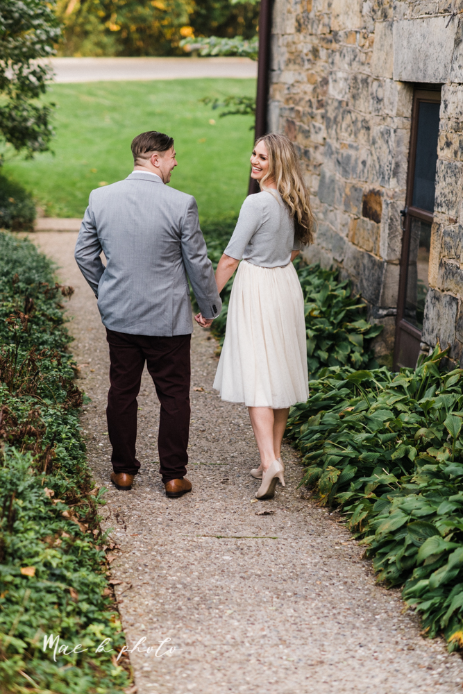 courtney and andy's vintage fall engagement session in mill creek park at pioneer pavilion and lake glacier in youngstown ohio photographed by youngstown wedding photographer mae b photo-15.jpg