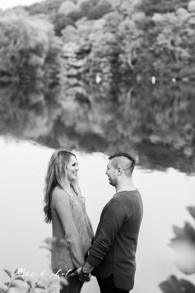 courtney and andy's vintage fall engagement session in mill creek park at pioneer pavilion and lake glacier in youngstown ohio photographed by youngstown wedding photographer mae b photo-50.jpg