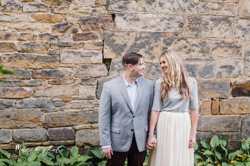 courtney and andy's vintage fall engagement session in mill creek park at pioneer pavilion and lake glacier in youngstown ohio photographed by youngstown wedding photographer mae b photo-21.jpg