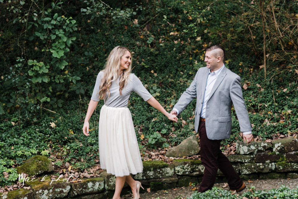 courtney and andy's vintage fall engagement session in mill creek park at pioneer pavilion and lake glacier in youngstown ohio photographed by youngstown wedding photographer mae b photo-30.jpg