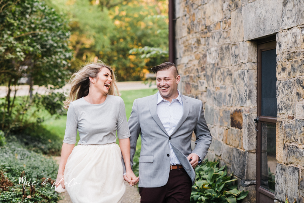 courtney and andy's vintage fall engagement session in mill creek park at pioneer pavilion and lake glacier in youngstown ohio photographed by youngstown wedding photographer mae b photo-19.jpg