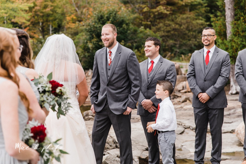 lyndsay and nate's intimate unique untraditional fall acadia national park elopement at eagle lake and cadillac mountain in bar harbor maine and honeymoon sunrise session at otter cliff photographed by youngstown wedding photographer mae b photo-32.jpg