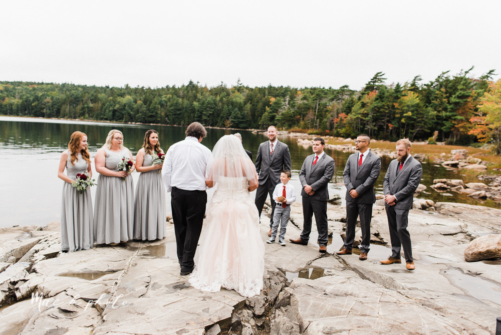lyndsay and nate's intimate unique untraditional fall acadia national park elopement at eagle lake and cadillac mountain in bar harbor maine and honeymoon sunrise session at otter cliff photographed by youngstown wedding photographer mae b photo-106.jpg