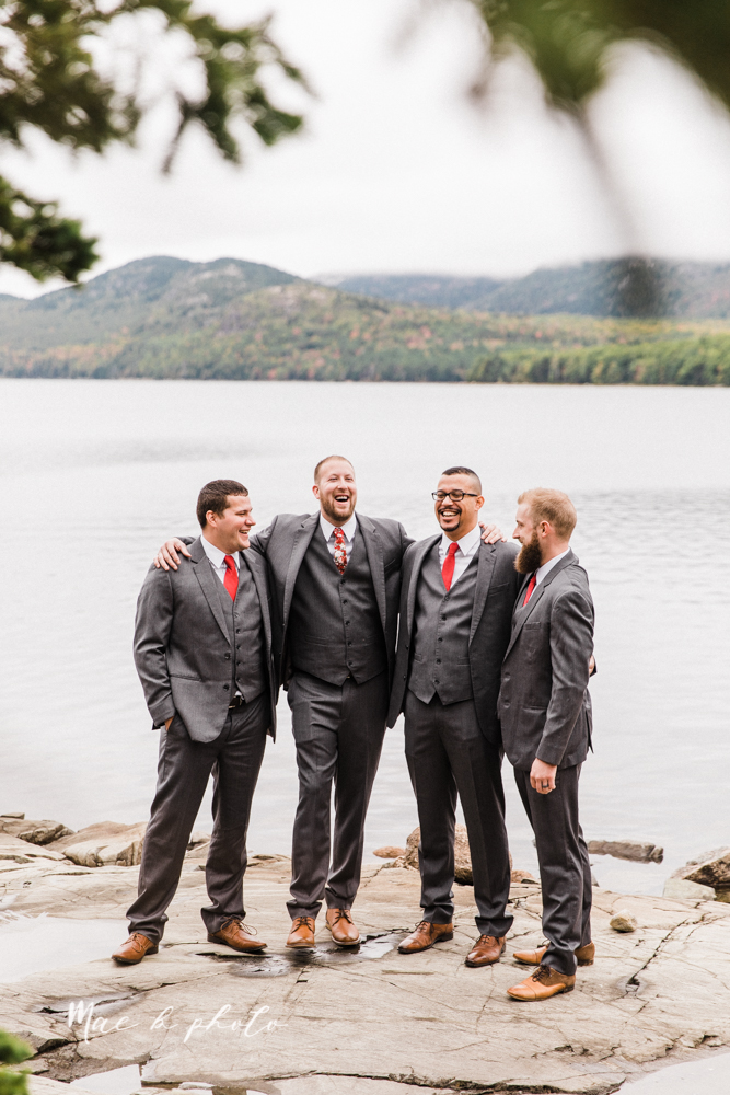 lyndsay and nate's intimate unique untraditional fall acadia national park elopement at eagle lake and cadillac mountain in bar harbor maine and honeymoon sunrise session at otter cliff photographed by youngstown wedding photographer mae b photo-23.jpg