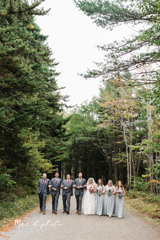lyndsay and nate's intimate unique untraditional fall acadia national park elopement at eagle lake and cadillac mountain in bar harbor maine and honeymoon sunrise session at otter cliff photographed by youngstown wedding photographer mae b photo-110.jpg