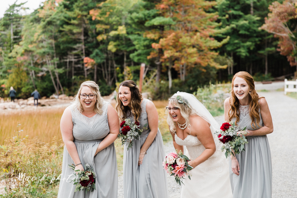 lyndsay and nate's intimate unique untraditional fall acadia national park elopement at eagle lake and cadillac mountain in bar harbor maine and honeymoon sunrise session at otter cliff photographed by youngstown wedding photographer mae b photo-40.jpg