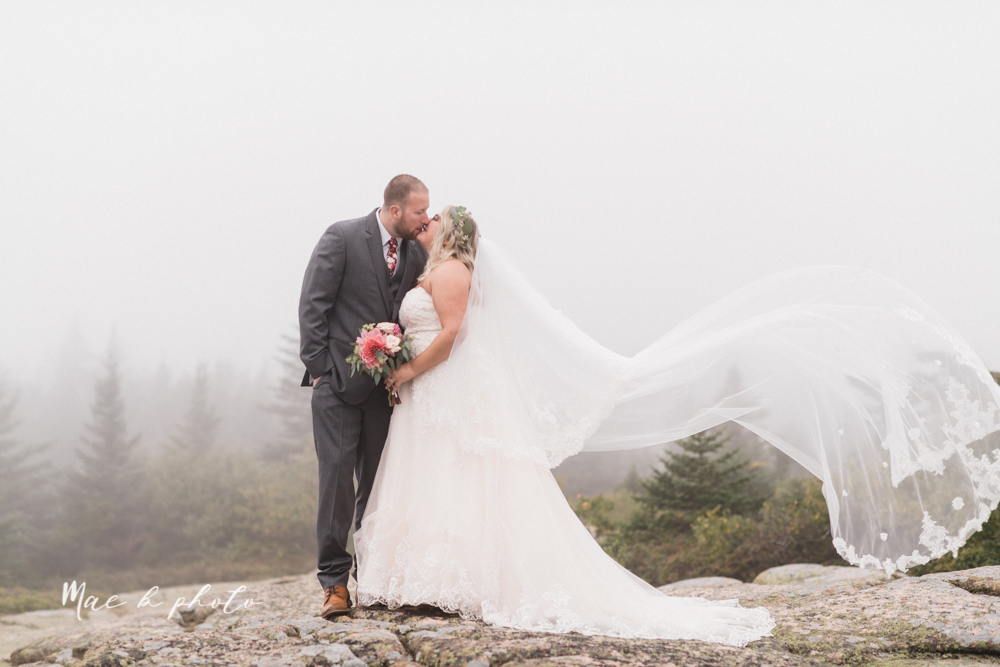lyndsay and nate's intimate unique untraditional fall acadia national park elopement at eagle lake and cadillac mountain in bar harbor maine and honeymoon sunrise session at otter cliff photographed by youngstown wedding photographer mae b photo-136.jpg