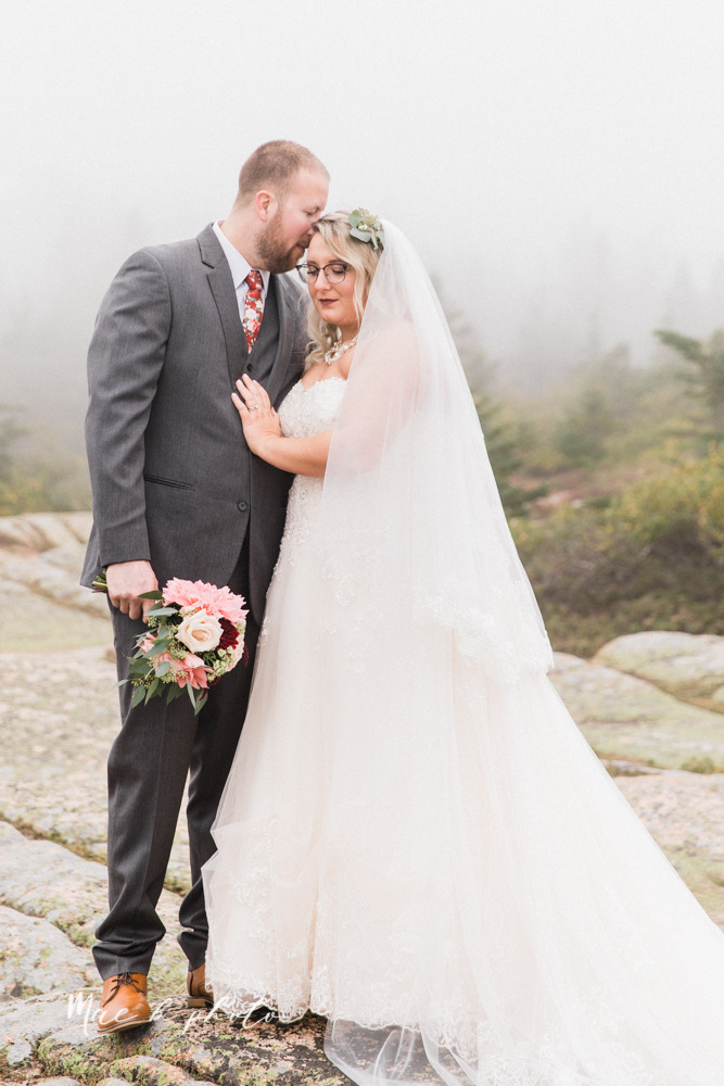 lyndsay and nate's intimate unique untraditional fall acadia national park elopement at eagle lake and cadillac mountain in bar harbor maine and honeymoon sunrise session at otter cliff photographed by youngstown wedding photographer mae b photo-43.jpg