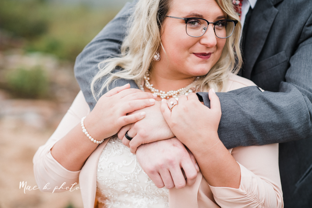 lyndsay and nate's intimate unique untraditional fall acadia national park elopement at eagle lake and cadillac mountain in bar harbor maine and honeymoon sunrise session at otter cliff photographed by youngstown wedding photographer mae b photo-156.jpg
