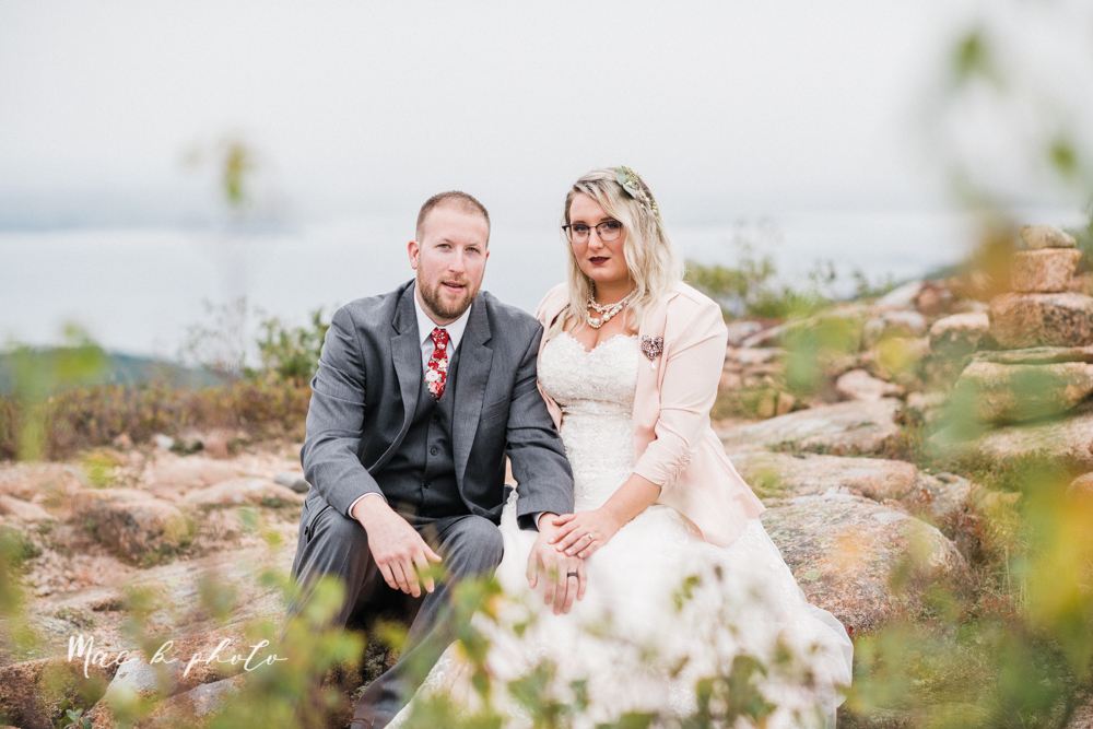 lyndsay and nate's intimate unique untraditional fall acadia national park elopement at eagle lake and cadillac mountain in bar harbor maine and honeymoon sunrise session at otter cliff photographed by youngstown wedding photographer mae b photo-159.jpg