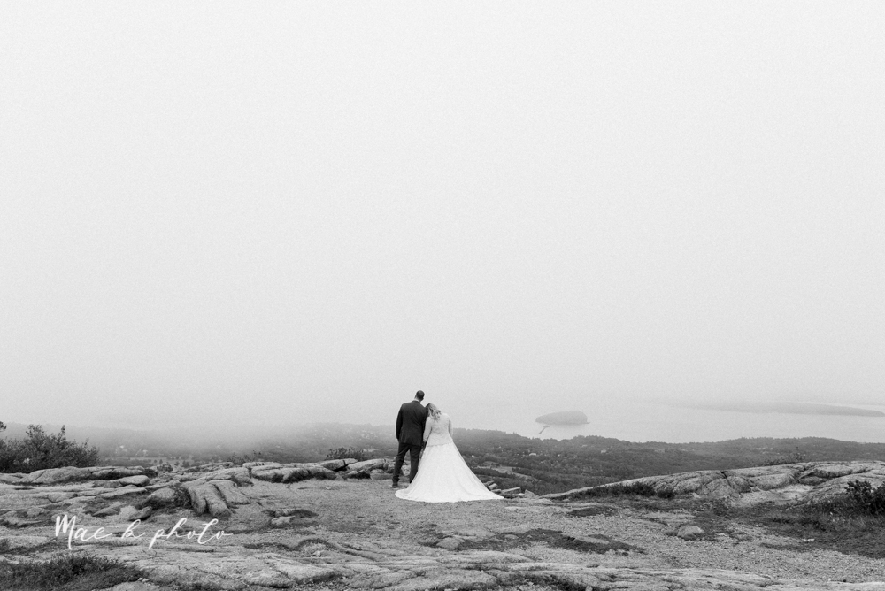lyndsay and nate's intimate unique untraditional fall acadia national park elopement at eagle lake and cadillac mountain in bar harbor maine and honeymoon sunrise session at otter cliff photographed by youngstown wedding photographer mae b photo-152.jpg