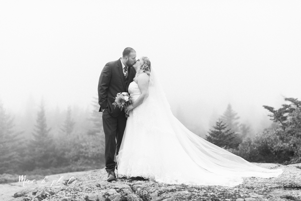 lyndsay and nate's intimate unique untraditional fall acadia national park elopement at eagle lake and cadillac mountain in bar harbor maine and honeymoon sunrise session at otter cliff photographed by youngstown wedding photographer mae b photo-137.jpg