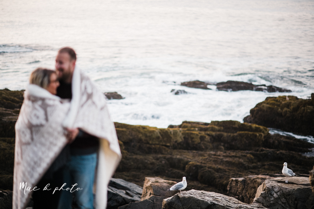 lyndsay and nate's intimate unique untraditional fall acadia national park elopement at eagle lake and cadillac mountain in bar harbor maine and honeymoon sunrise session at otter cliff photographed by youngstown wedding photographer mae b photo-182.jpg
