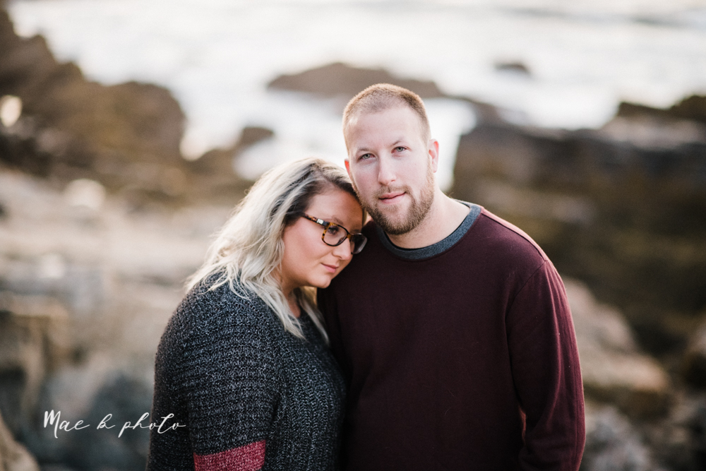lyndsay and nate's intimate unique untraditional fall acadia national park elopement at eagle lake and cadillac mountain in bar harbor maine and honeymoon sunrise session at otter cliff photographed by youngstown wedding photographer mae b photo-185.jpg