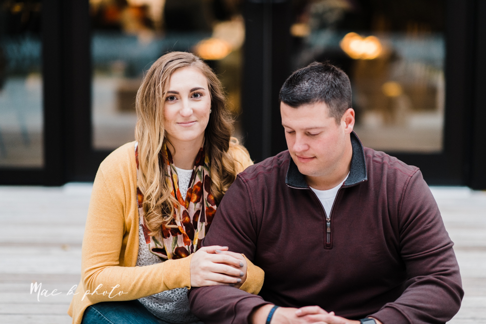 erin and shawn's fall Cleveland winery engagement session at sapphire creek winery photographed by youngstown wedding photographer mae b photo-41.jpg