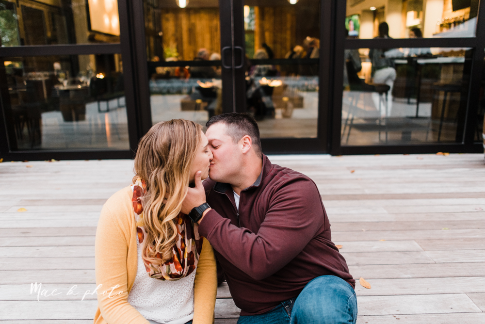 erin and shawn's fall Cleveland winery engagement session at sapphire creek winery photographed by youngstown wedding photographer mae b photo-45.jpg