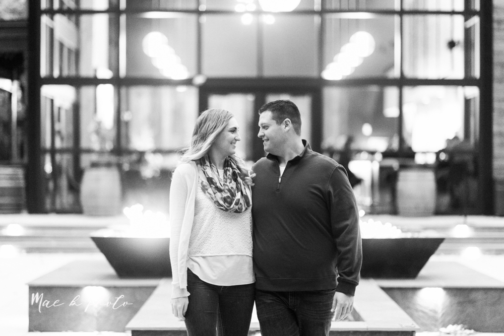 erin and shawn's fall Cleveland winery engagement session at sapphire creek winery photographed by youngstown wedding photographer mae b photo-52.jpg
