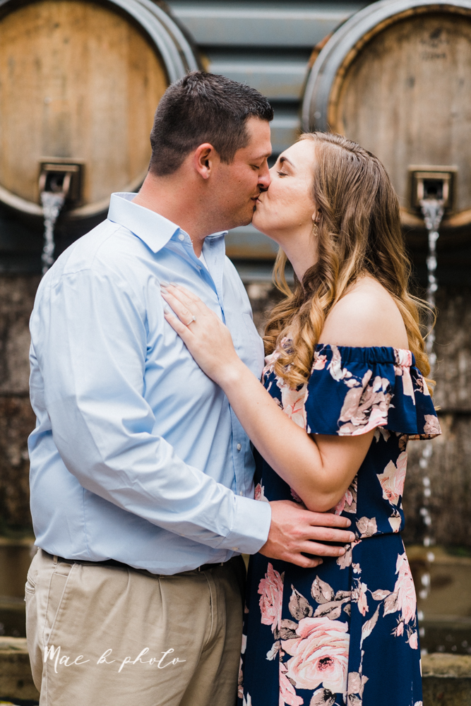 erin and shawn's fall Cleveland winery engagement session at sapphire creek winery photographed by youngstown wedding photographer mae b photo-9.jpg