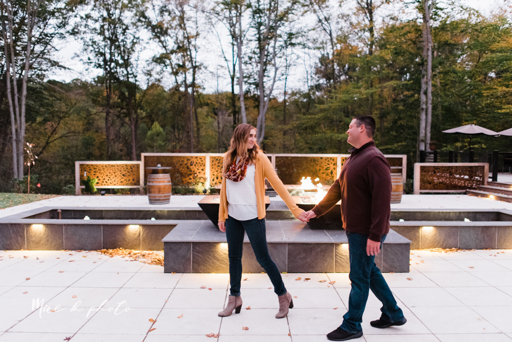 erin and shawn's fall Cleveland winery engagement session at sapphire creek winery photographed by youngstown wedding photographer mae b photo-53.jpg