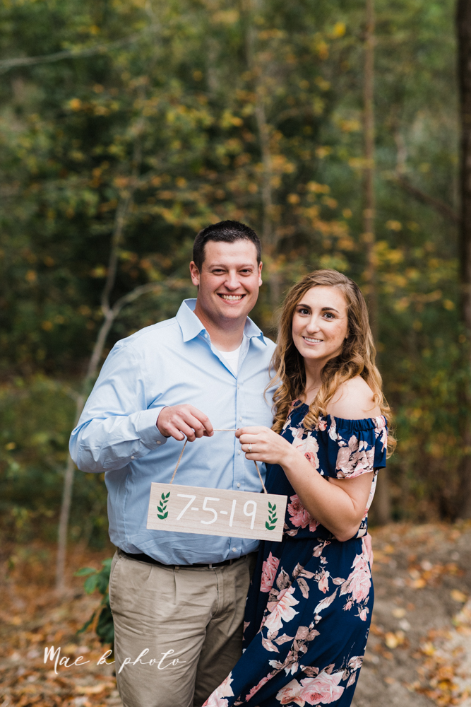 erin and shawn's fall Cleveland winery engagement session at sapphire creek winery photographed by youngstown wedding photographer mae b photo-32.jpg