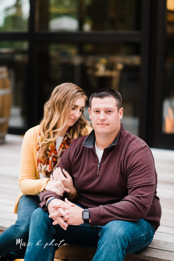 erin and shawn's fall Cleveland winery engagement session at sapphire creek winery photographed by youngstown wedding photographer mae b photo-43.jpg