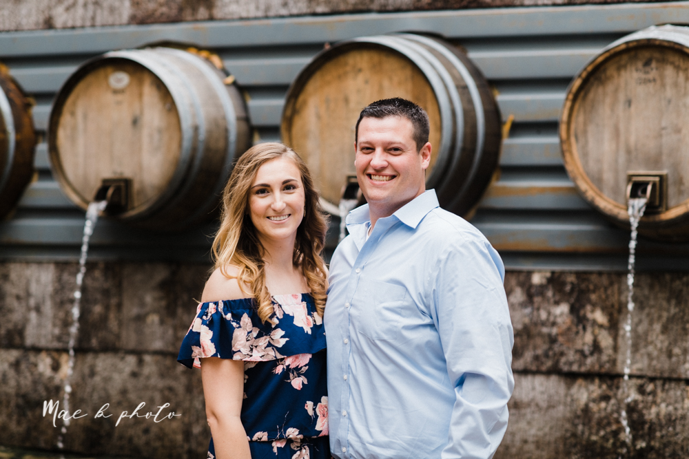 erin and shawn's fall Cleveland winery engagement session at sapphire creek winery photographed by youngstown wedding photographer mae b photo-5.jpg
