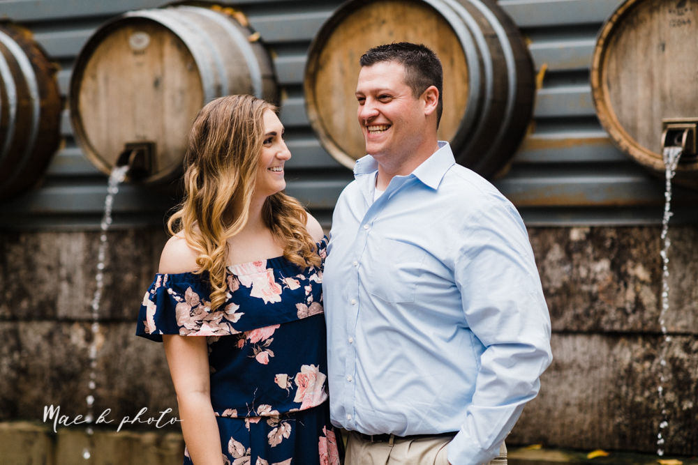 erin and shawn's fall Cleveland winery engagement session at sapphire creek winery photographed by youngstown wedding photographer mae b photo-3.jpg