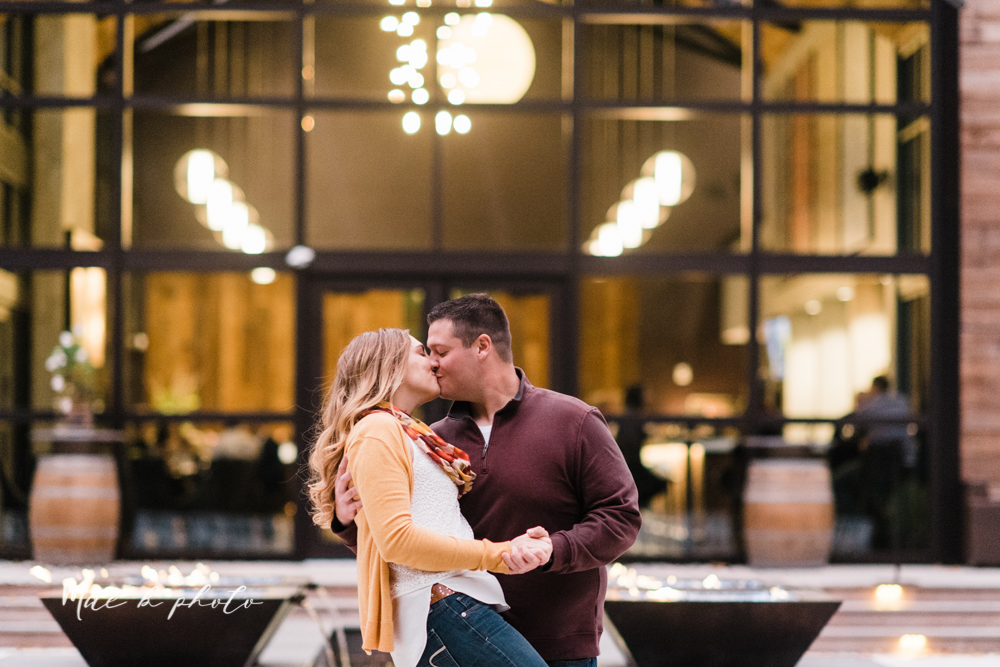 erin and shawn's fall Cleveland winery engagement session at sapphire creek winery photographed by youngstown wedding photographer mae b photo-50.jpg