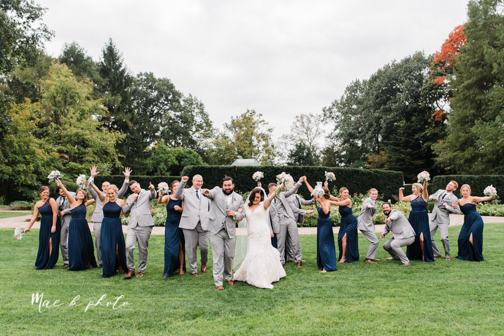 casey and matt's big fun italian fall wedding at st robert's church in cortland ohio and avion on the water in youngstown ohio and fellows riverside gardens in mill creek park photographed by youngstown wedding photographer mae b photo -110.jpg