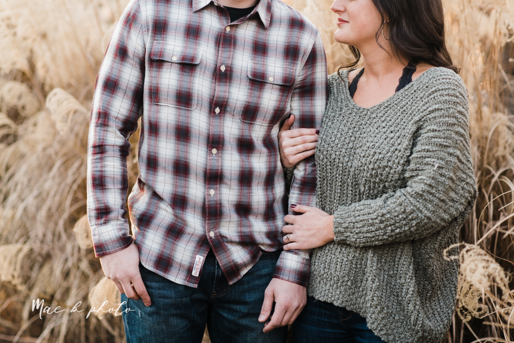 shelby and tyler's winter engagement session in northeast ohio at the cinderella bridge silver bridge and lanterman's mill in mill creek park in youngstown ohio photographed by youngstown wedding photographer mae b photo-40.jpg