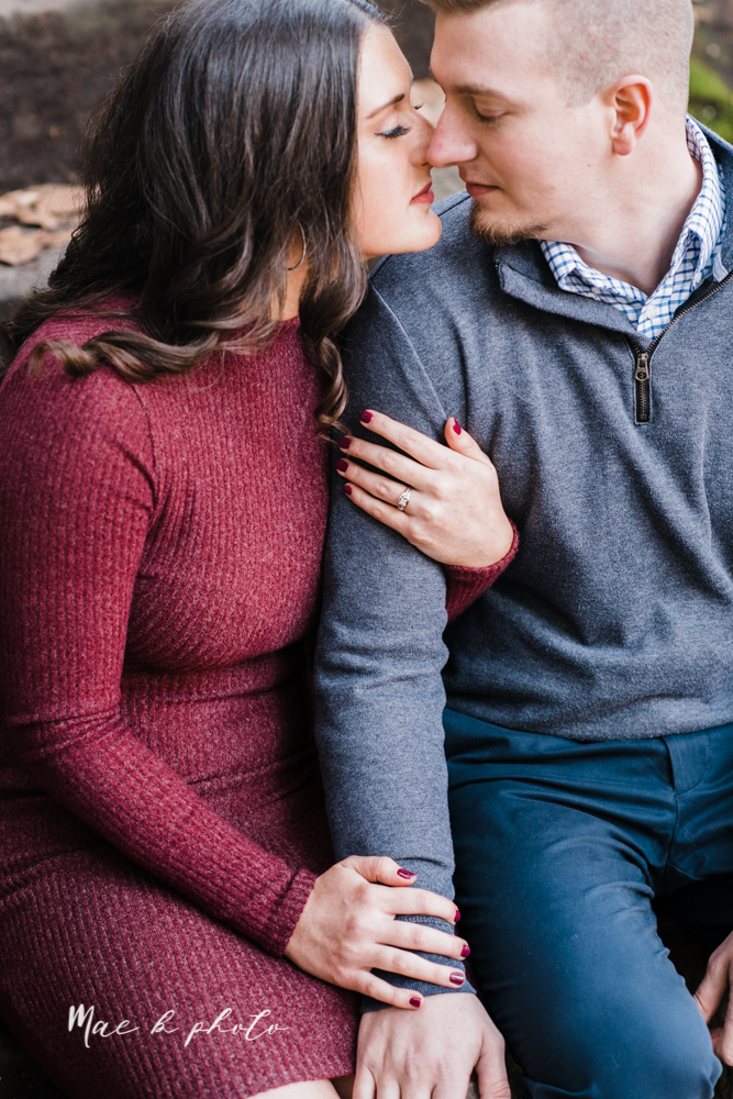 shelby and tyler's winter engagement session in northeast ohio at the cinderella bridge silver bridge and lanterman's mill in mill creek park in youngstown ohio photographed by youngstown wedding photographer mae b photo-24.jpg