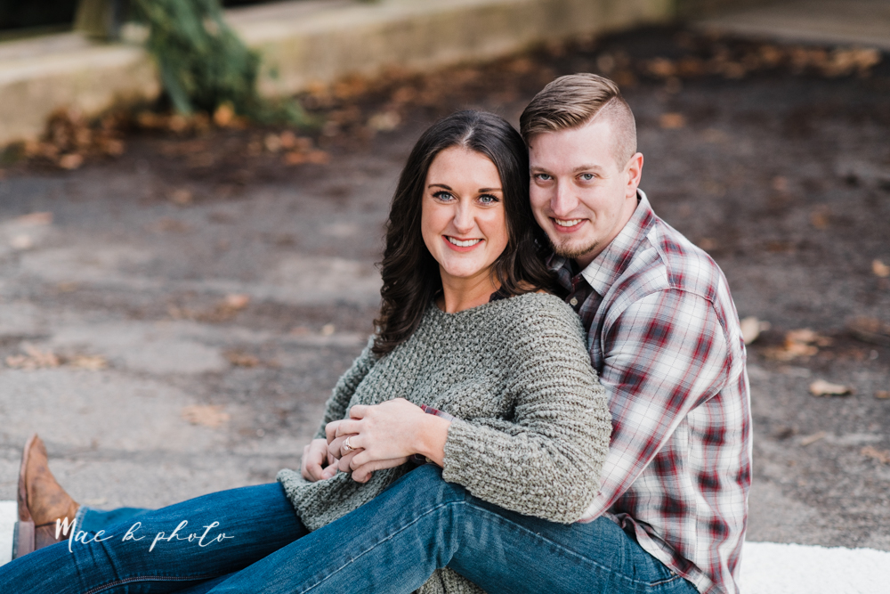 shelby and tyler's winter engagement session in northeast ohio at the cinderella bridge silver bridge and lanterman's mill in mill creek park in youngstown ohio photographed by youngstown wedding photographer mae b photo-46.jpg