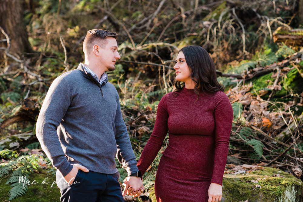 shelby and tyler's winter engagement session in northeast ohio at the cinderella bridge silver bridge and lanterman's mill in mill creek park in youngstown ohio photographed by youngstown wedding photographer mae b photo-22.jpg