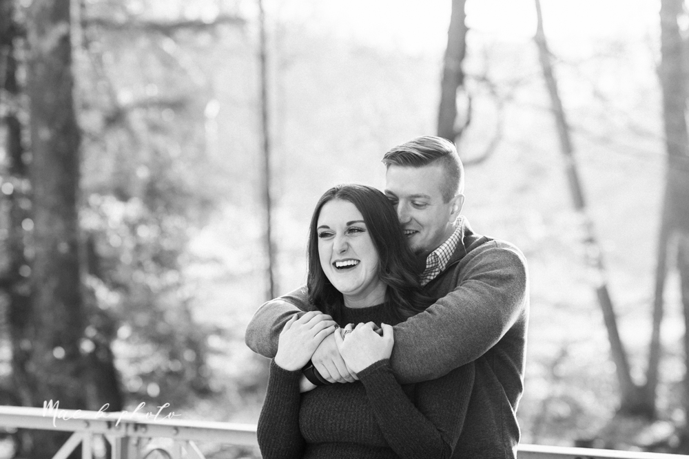 shelby and tyler's winter engagement session in northeast ohio at the cinderella bridge silver bridge and lanterman's mill in mill creek park in youngstown ohio photographed by youngstown wedding photographer mae b photo-6.jpg