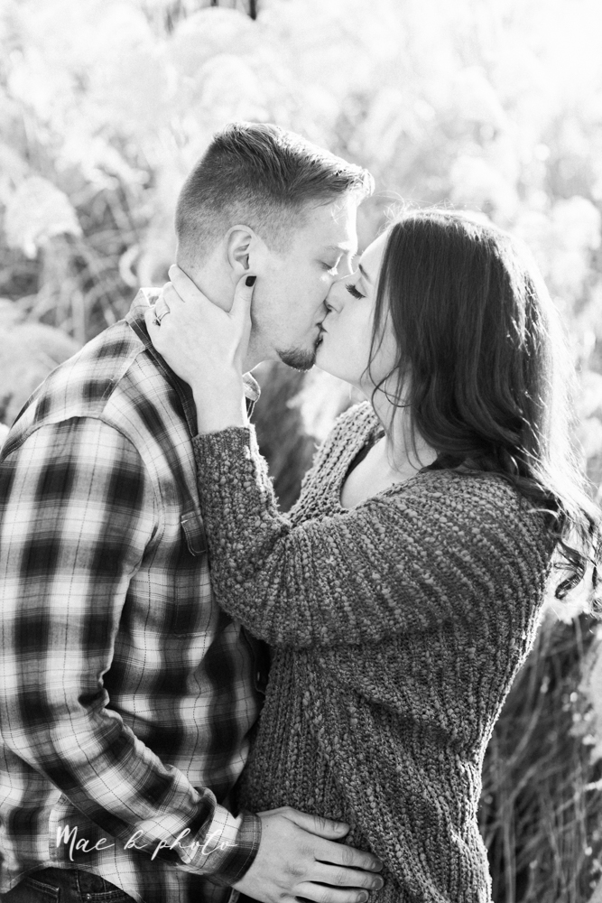 shelby and tyler's winter engagement session in northeast ohio at the cinderella bridge silver bridge and lanterman's mill in mill creek park in youngstown ohio photographed by youngstown wedding photographer mae b photo-35.jpg
