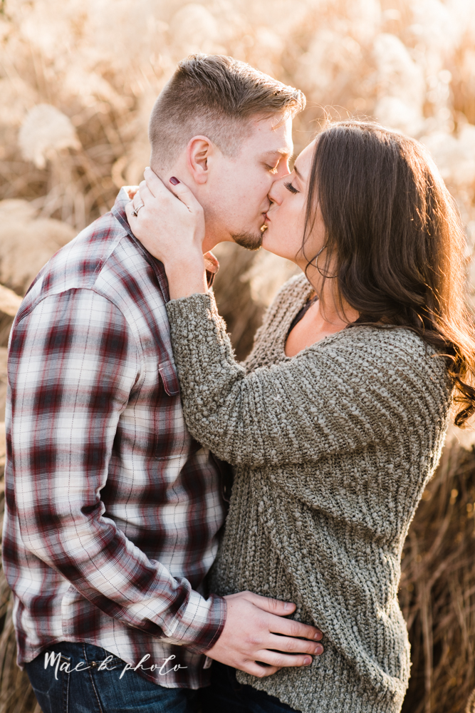 shelby and tyler's winter engagement session in northeast ohio at the cinderella bridge silver bridge and lanterman's mill in mill creek park in youngstown ohio photographed by youngstown wedding photographer mae b photo-36.jpg