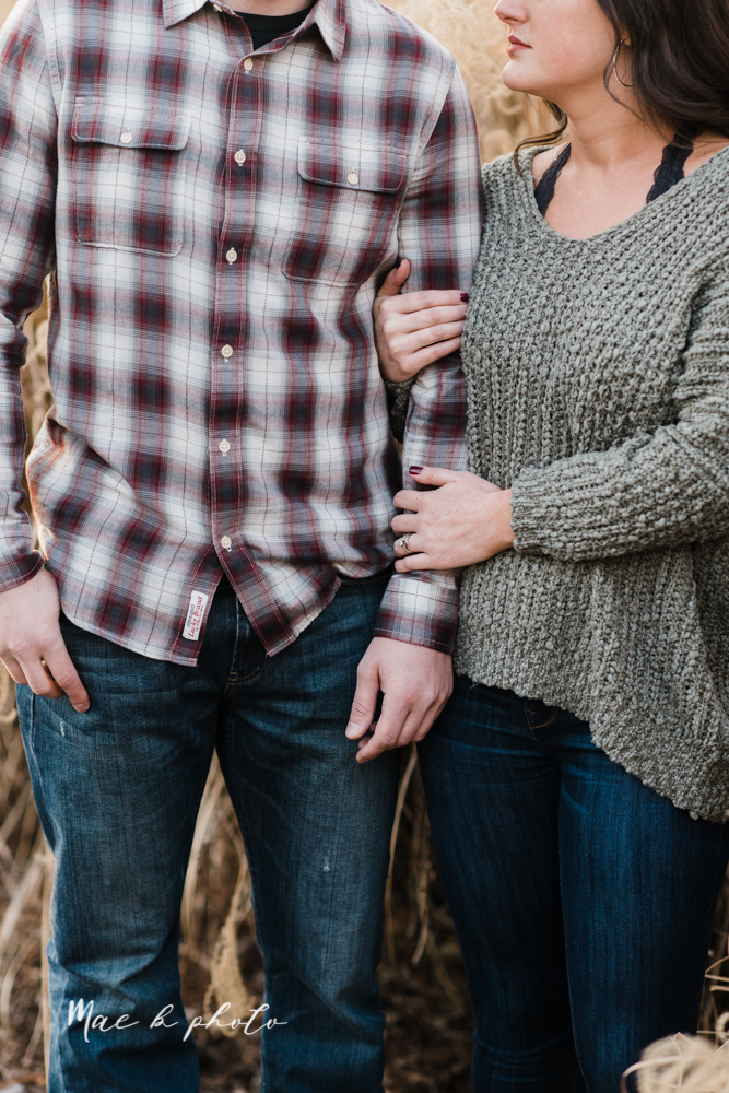 shelby and tyler's winter engagement session in northeast ohio at the cinderella bridge silver bridge and lanterman's mill in mill creek park in youngstown ohio photographed by youngstown wedding photographer mae b photo-39.jpg