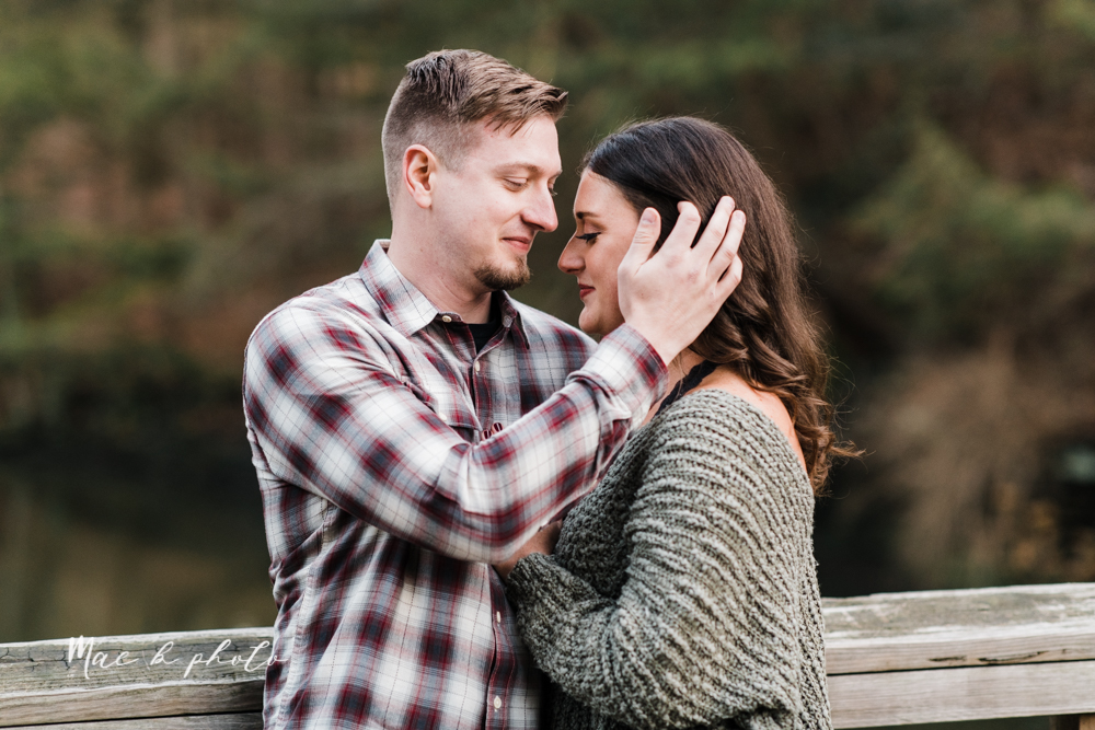 shelby and tyler's winter engagement session in northeast ohio at the cinderella bridge silver bridge and lanterman's mill in mill creek park in youngstown ohio photographed by youngstown wedding photographer mae b photo-53.jpg