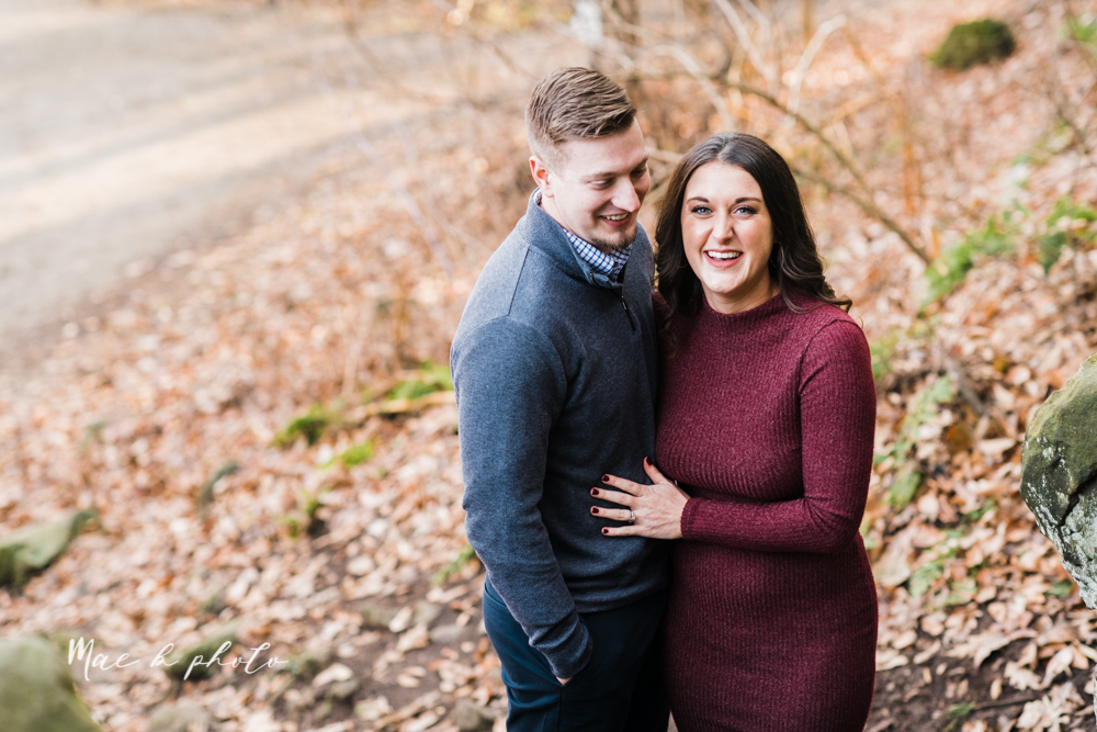 shelby and tyler's winter engagement session in northeast ohio at the cinderella bridge silver bridge and lanterman's mill in mill creek park in youngstown ohio photographed by youngstown wedding photographer mae b photo-29.jpg