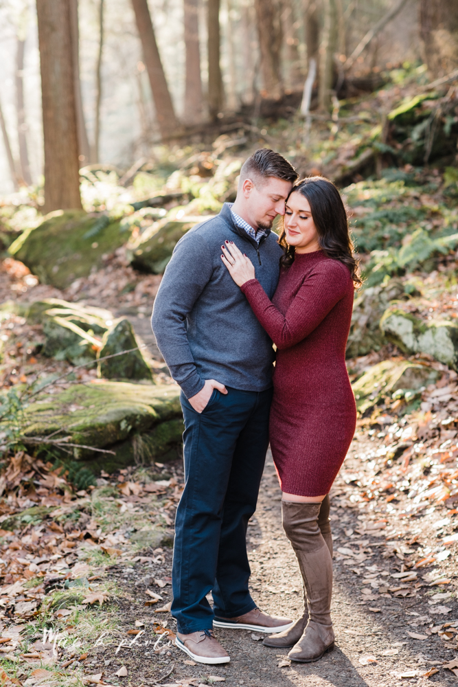 shelby and tyler's winter engagement session in northeast ohio at the cinderella bridge silver bridge and lanterman's mill in mill creek park in youngstown ohio photographed by youngstown wedding photographer mae b photo-11.jpg