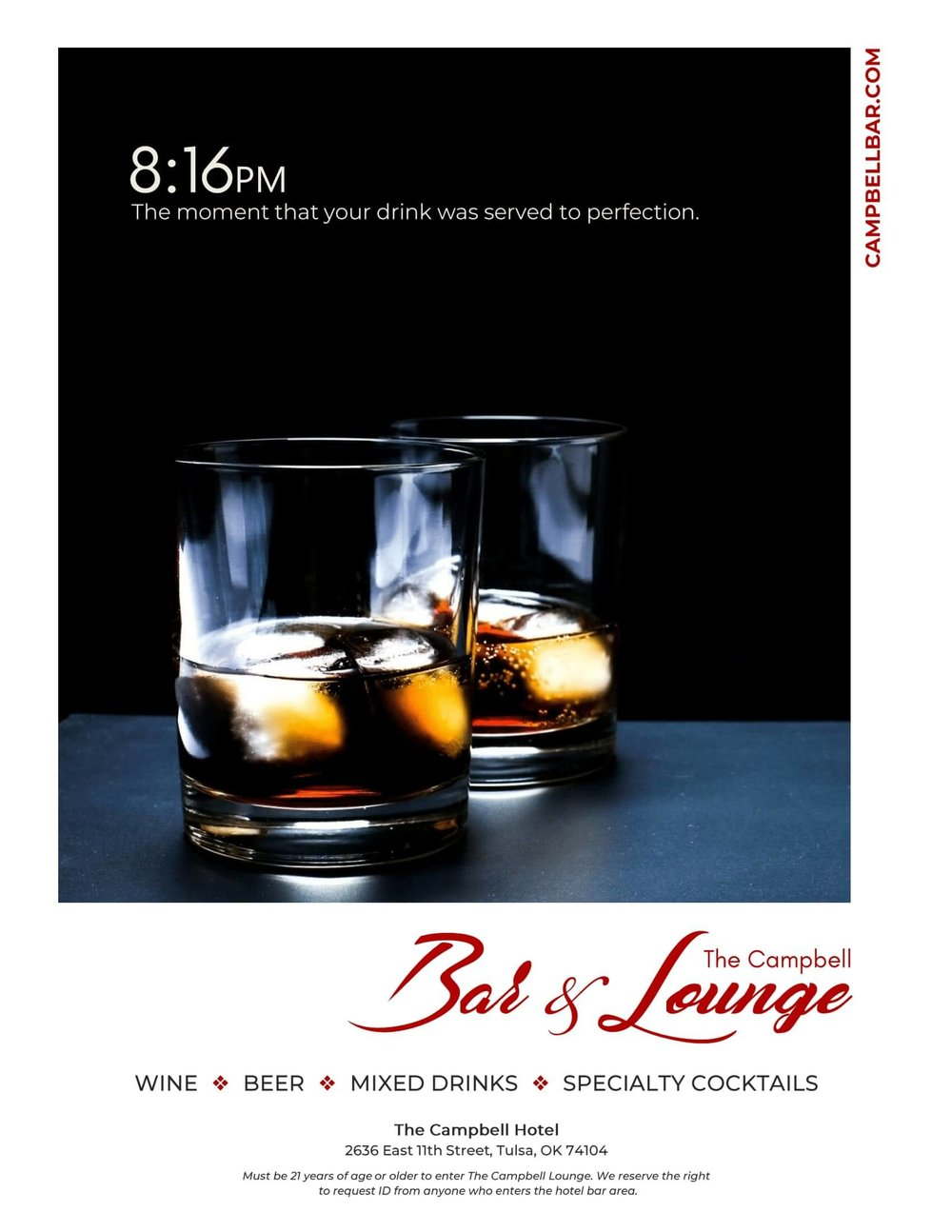 Tulsa Graphic Design Work by Erik Michael Collins for Local Hotel Bar