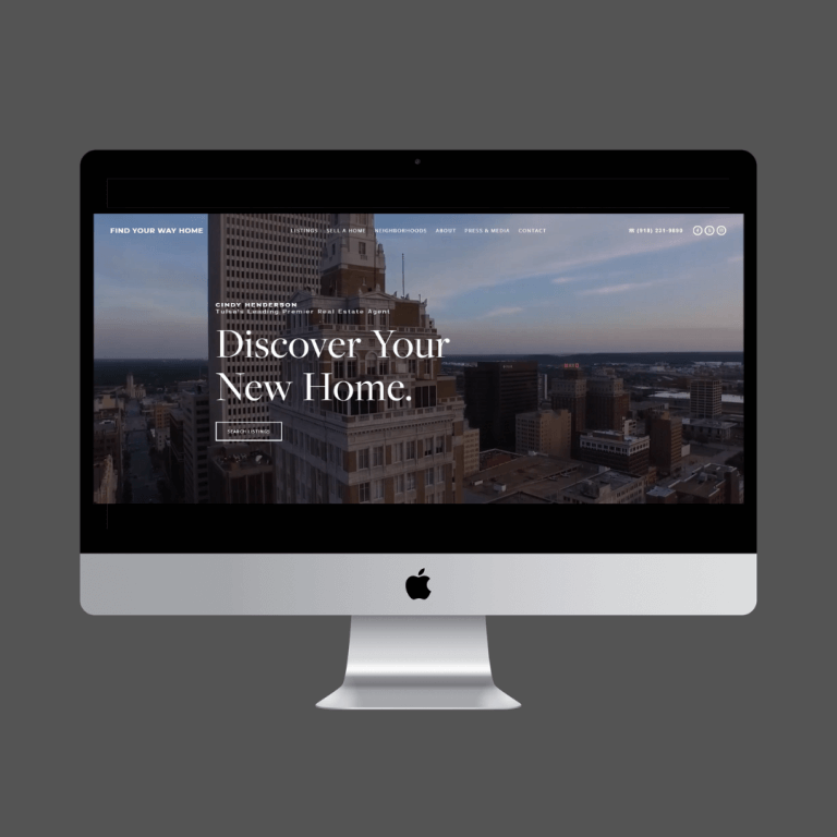 Find your way home - mcgraw realtors - Tulsa real estate website - full design and development.
