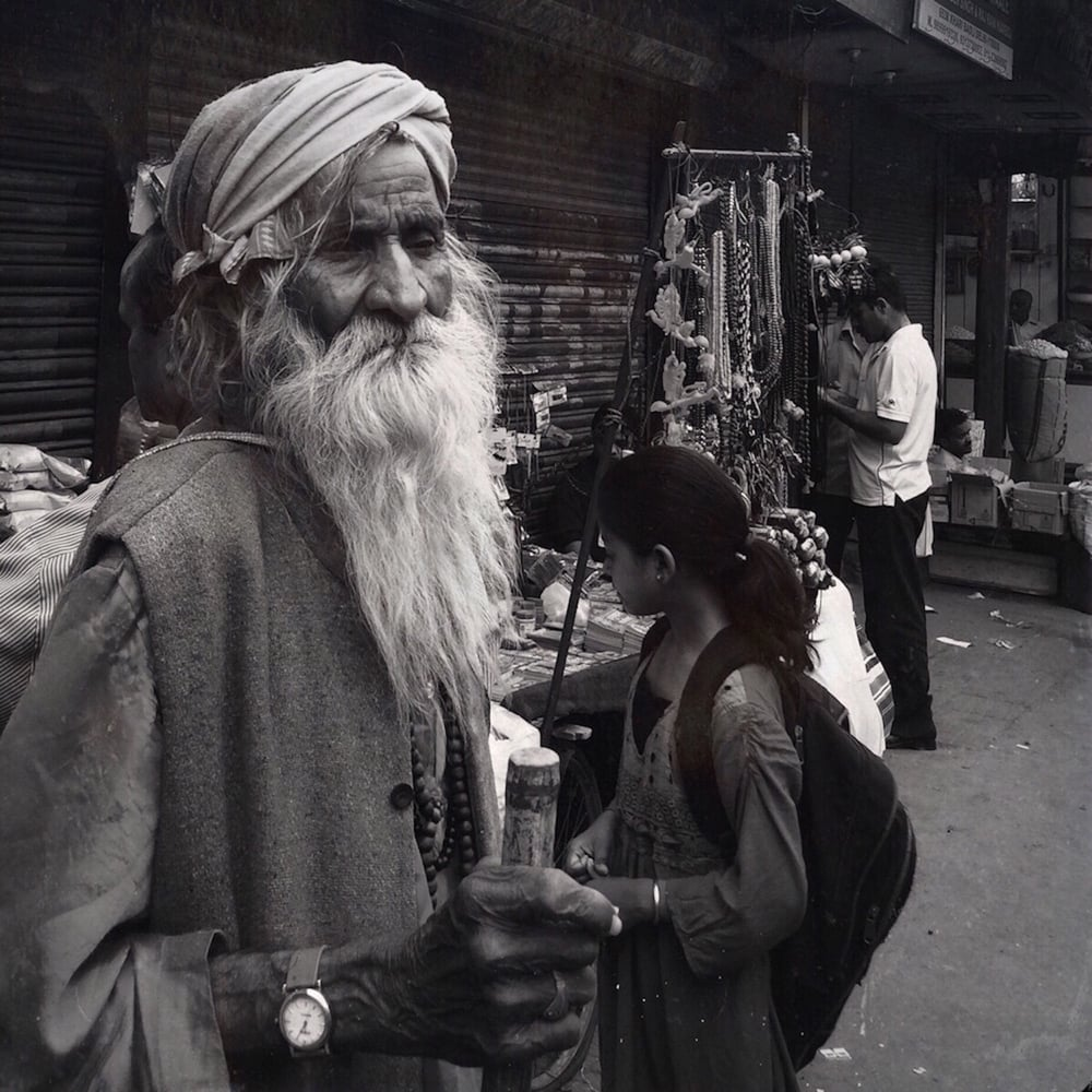 Man at Chandni Chowk
