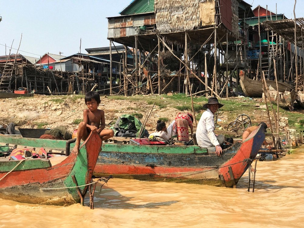 Family Life on Tonle Sap Lake