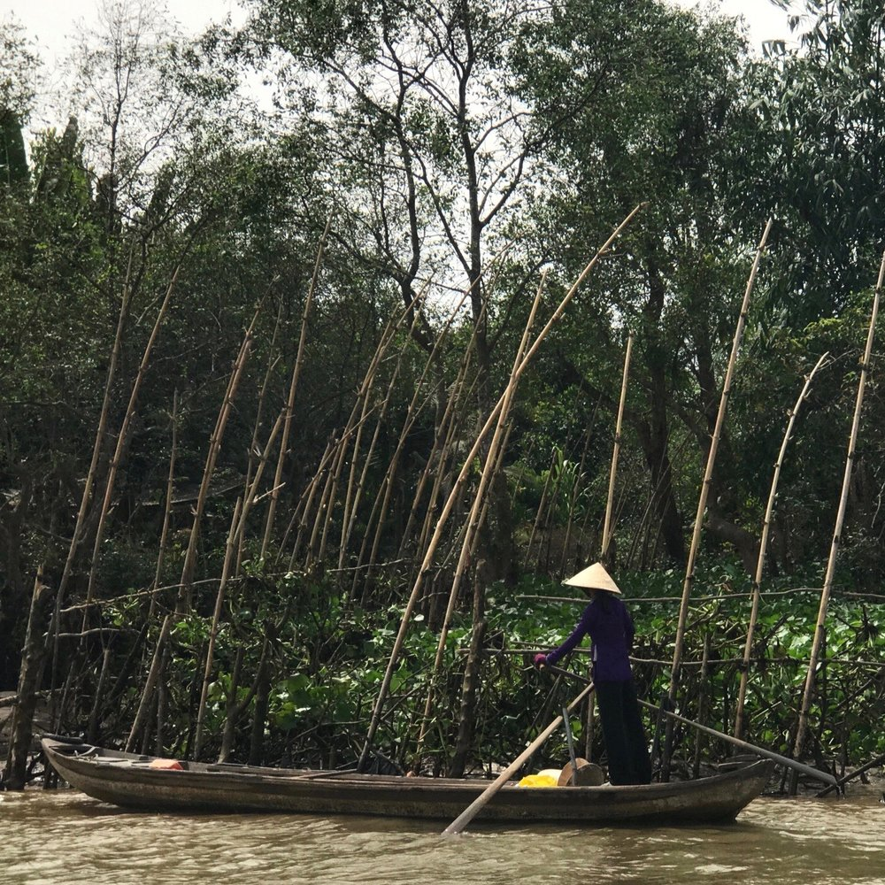 Paddling on the Mekong Delta (Vietnam)