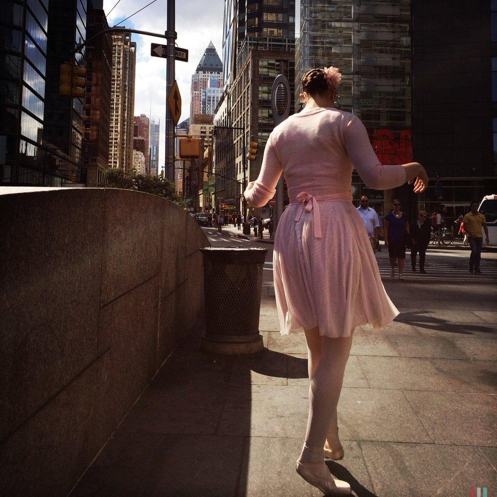 Ballerina in Columbus Circle