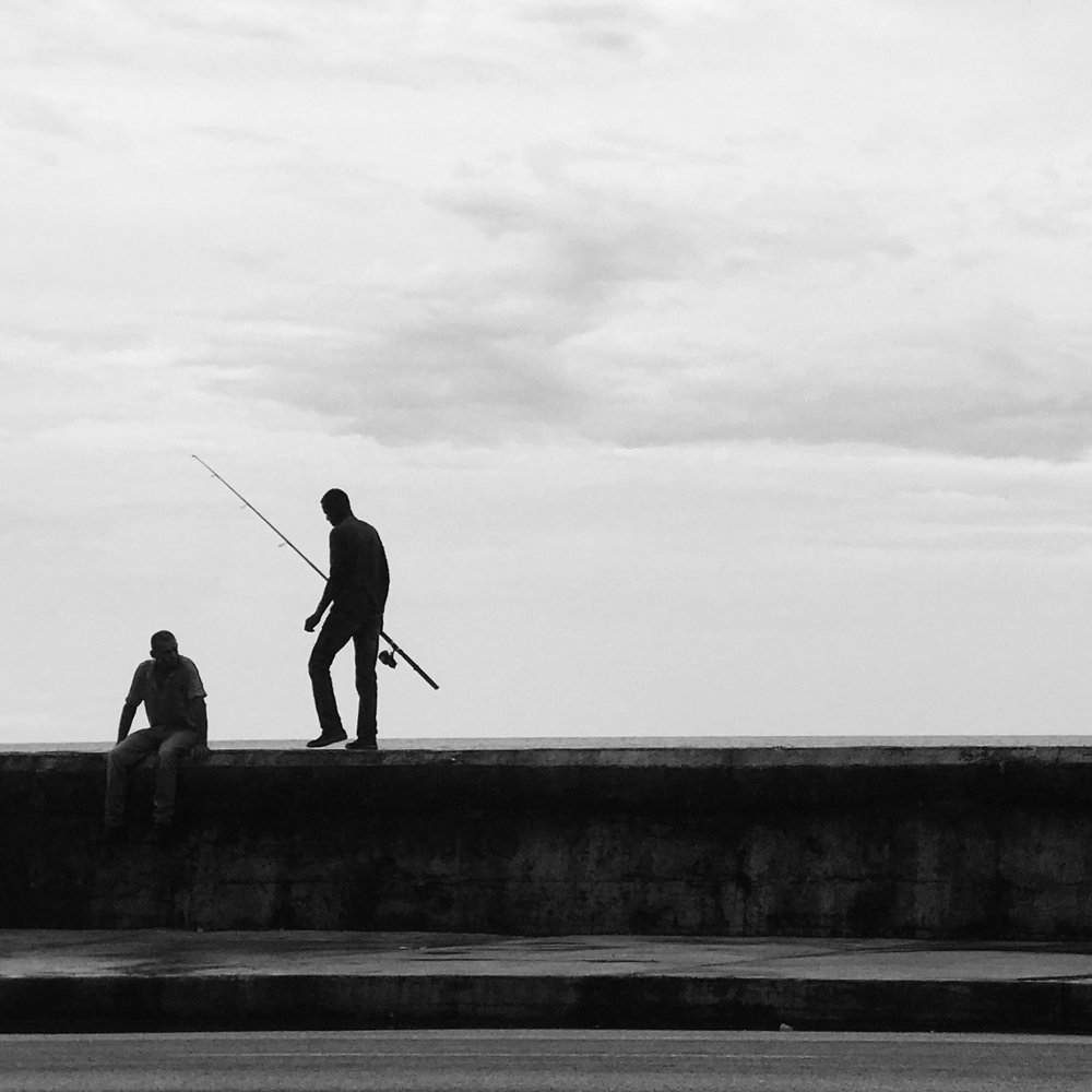 Fishing on the Malecon