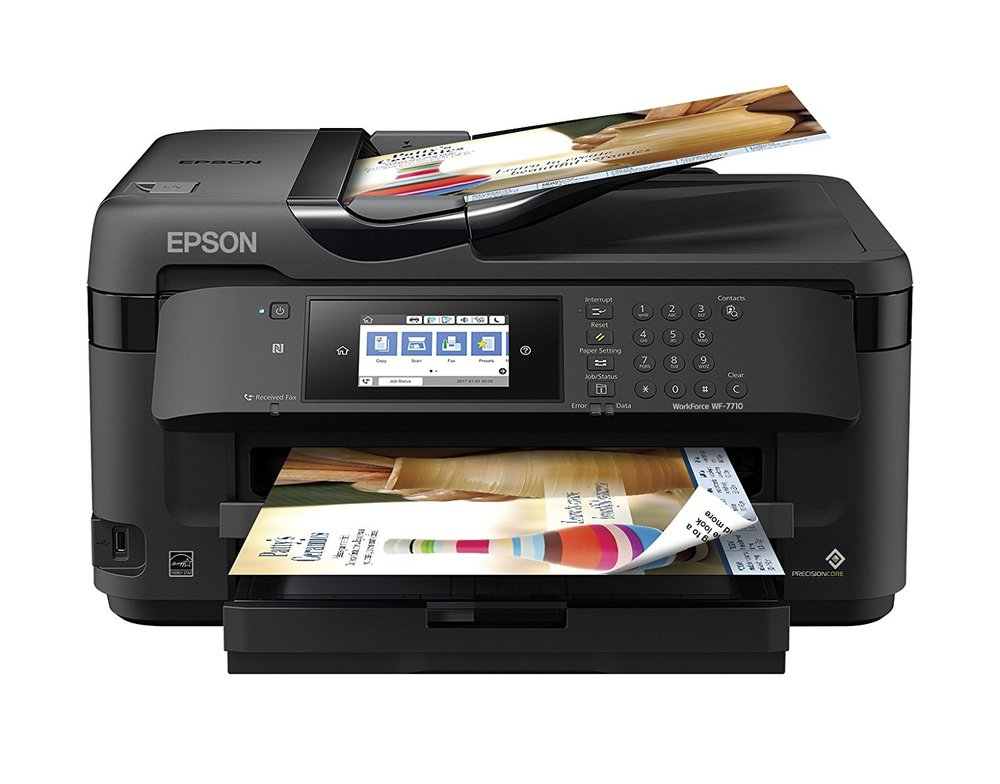 Epson Workforce WF-7710 Ink Cartridge Printer.  Prints in Black AND Color, Copies, Scans and Faxes.  This is one of the few Ink Cartridge Printers I would recommend. Reliable enough for an Ink Cartridge device, does everything you throw at it, and for the price, definitely a good buy for an occasional printer. Costs around $150